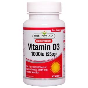 Vitamin D3 1000iu 90's - 129330