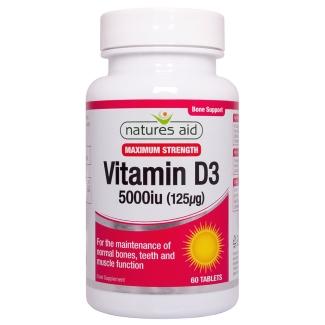 Vitamin D3 5000iu 60's - 135920
